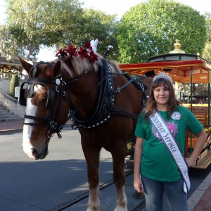 Brittney Johnson Pre-teen @ Disney with Sully the horse 2013