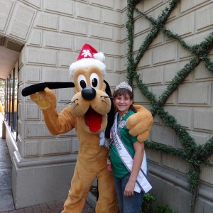 Brittney Johnson Pre-teen with Pluto 2013