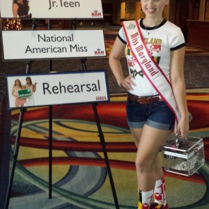 Miss Maryland Jr. Teen, Rachel Distefano, showing her state pride!!