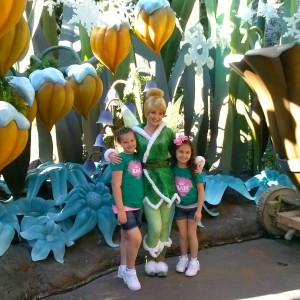 Selena & Kaydn with Tinker Bell !