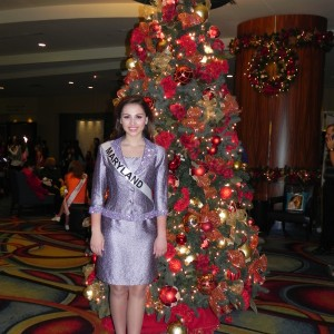 Miss Maryland Jr. Teen, Rachel Distefano, ready for Personal Introduction in her interview suit