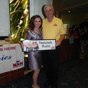 Miss Maryland Jr. Teen, Rachel Distefano, with one of her amazing state directors, Mr. Lew