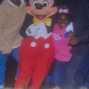 The Starling Family with Mickey Mouse