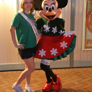 Krystal Donovan with Minnie Mouse