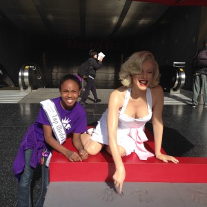 Alaina Walker & Marilyn Monroe on Hollywood Blvd... haha! :)