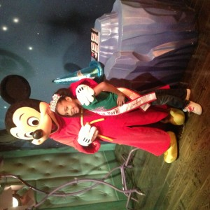 Princess Amaya with Mickey