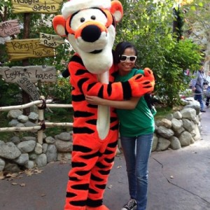 Chelsie Beavers and Tigger.