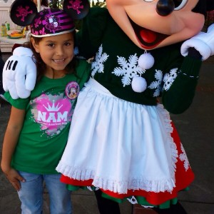 Princess Ana Tovar from Cali and Minnie!
