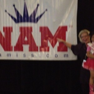 Miss Texas Princess Kristel with Miss Linda Stiver holding NAM sign!