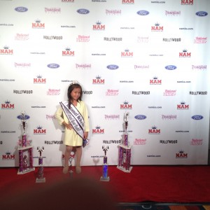 Miss Texas Princess Kristel in the Red Carpet Room!
