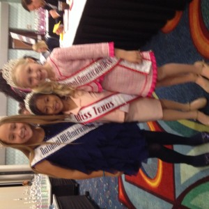 Miss Texas Princess Kristel with NAM Queen 2012-2013 Maddidon Kott and AA Queen 2012-2013 Brooke Heathe!