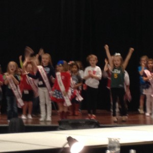 Miss Texas Princess Kristel in her state pride rehearsal!