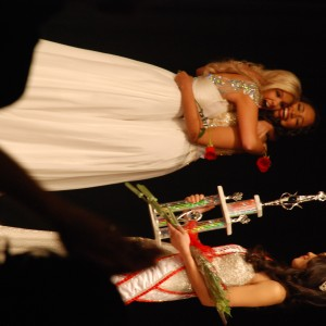 National American Miss Courtney Jamison and 1st runner-up Kelly Seiberlich sharing the joy and friendship!