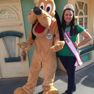 Miss Georgia Stephanie Vazquez with Pluto