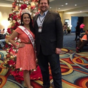 Miss Georgia Stephanie basque with Matt Leverton