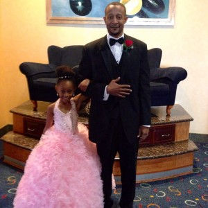 Skyla Woodard National All-American Princess with her father