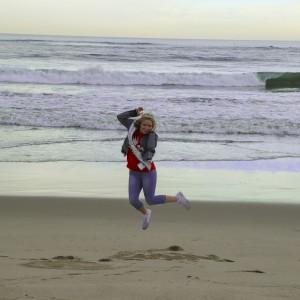 Krystal Donovan at Santa Monica beach