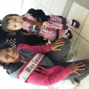 Met this little girl at airport