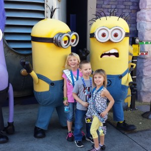 Kristi and her brother and sister love the minions!