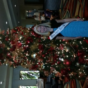 2014 Harlie Harris in the lobby waiting for check in