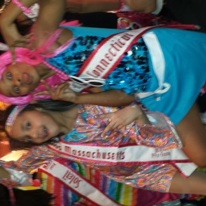 Janelyn and Nalani Miss Massachusetts and Miss Connecticut buddies..