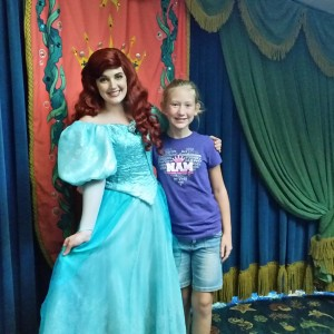 2014 Disney Day. Harlie Harris with Ariel. What a great time!