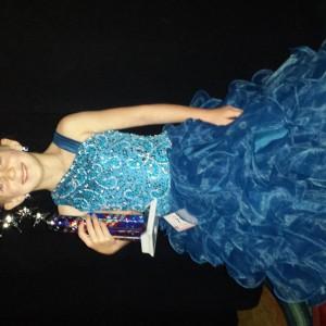 Kristi with her spirit trophy!