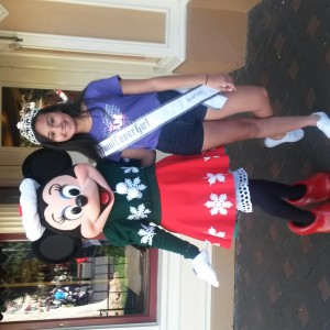 National Cover Girl Amethyst Alvarado with Minnie Mouse. .