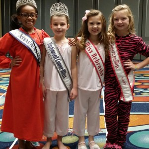 Miss Nebraska Princess Kadynce Mullins ready for pajama rehearsal