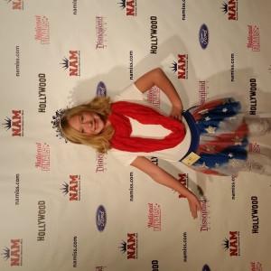 2014 Harlie Harris representing her Patriotism
