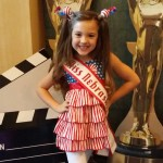 Miss Nebraska Princess Kadynce Mullins ready for patriotic rehearsal