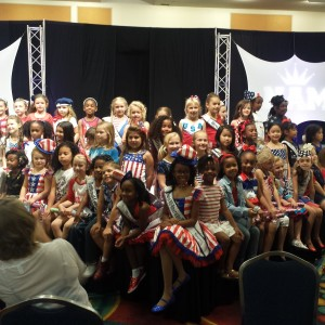 All American Miss Princess Patriotic rehearsal