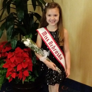 Miss Nebraska Princess Kadynce Mullins ready for the Thanksgiving banquet