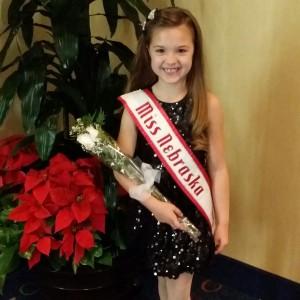 Miss Nebraska Princess Kadynce Mullins ready for the Thanksgiving banquet