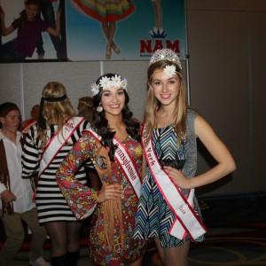 Miss New York Teen and Miss Pennsylvania Teen at the 70s Party!