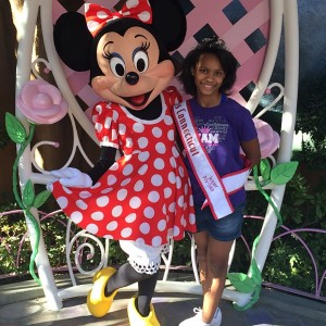 Miss CT Jr Pre Teen Nalani McDuffie with Minnie Mouse