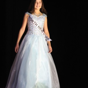 Annaliese Arena, 2014 National American Miss New York Jr. Pre-Teen Queen, gracing the stage in Formal Wear.