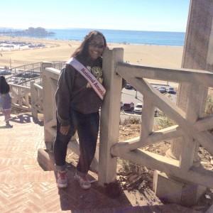 Aiyana on the beach at the Hollywood Tour