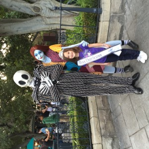 Saylor Porcaro and Jack Skellington and Sally