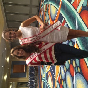 2013 National American Miss Teen and Spencer Petry, 2014 National American Miss Tennessee Teen meet at rehearsals