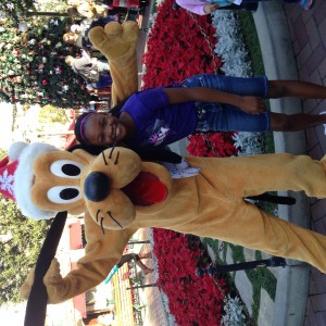 "N'kiya Freeman and her buddy ""Goofy"""
