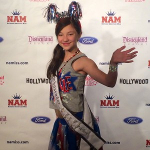 Pre-Teen Saphire Lapointe is ready for Patriotic rehearsal