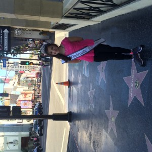 Pre-Teen Saphire Lapoinye  in Hollywood.