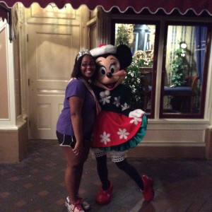 Aiyana Egins and Minnie Mouse