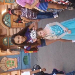 Alexis at Disney met a fellow Michigander