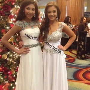 Michigan and Minnesota after formal wear. Minnesota was crowned National Jr. Teen congrats to her. Nationals 2014