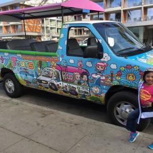 Miss Orlando Princess, Mikee Ombao visiting Santa Monica streets