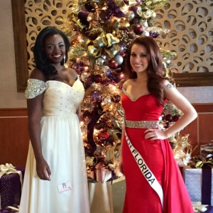 Jessica Miss Florida (South) and Courtlyn, Miss Pinellas after formalwear