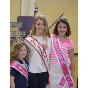 Anna Grace Smith enjoyed volunteering at the Susan G. Komen Think Pink Pageant for her NAM Community Service Project