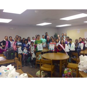 Caitlyn Cope, Miss Geogria Pre-Teen for NAM, hosted a toiletry drive for Children's Healthcare of Atlanta
